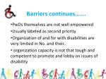 barriers continues17