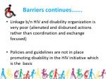 barriers continues18