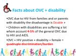 facts about ovc disability