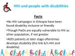 hiv and people with disabilities
