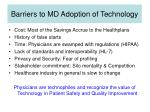 barriers to md adoption of technology
