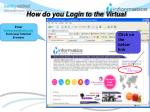 how do you login to the virtual classroom