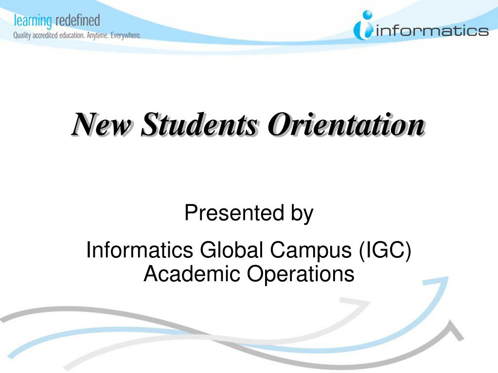 new students orientation l.
