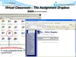virtual classroom the assignment dropbox icon as shown below