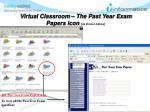 virtual classroom the past year exam papers icon as shown below