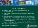 basic 1031 rules