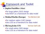 framework and toolkit