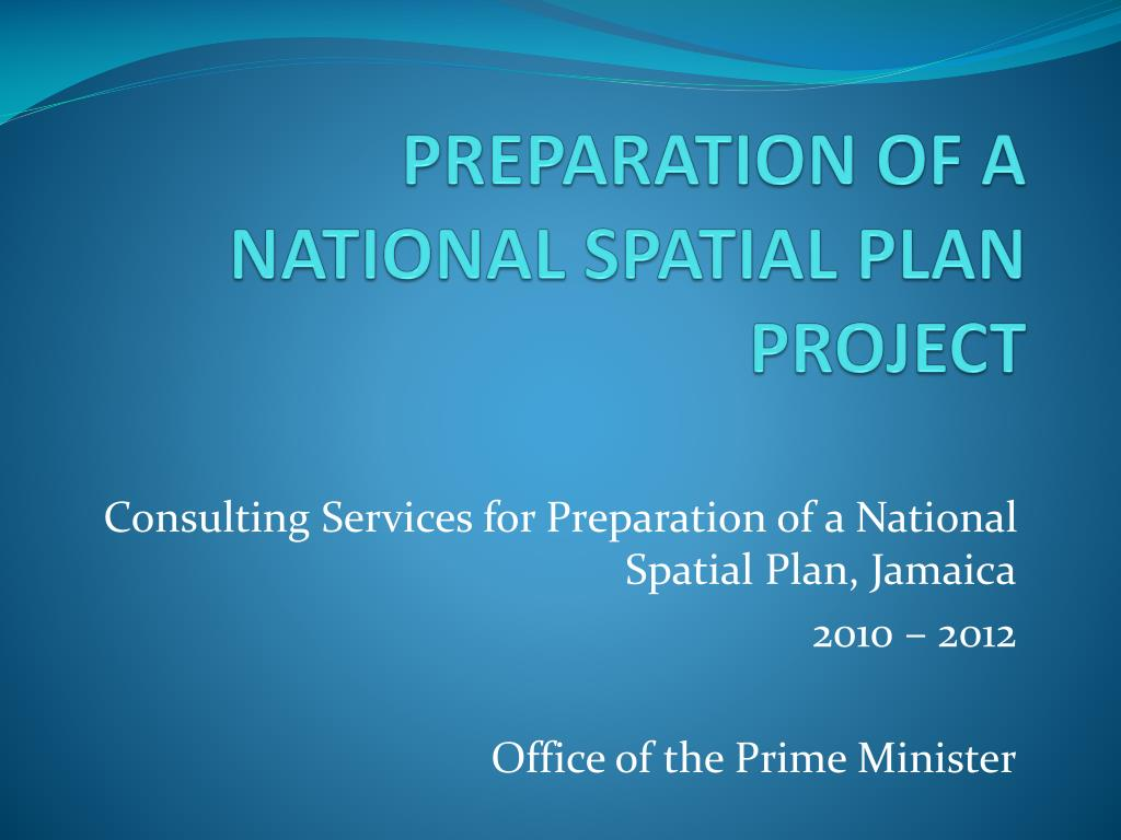preparation of a national spatial plan project l.