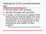 emergence of the private political self