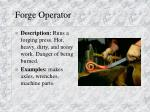 forge operator