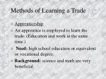 methods of learning a trade