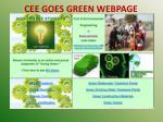 cee goes green webpage