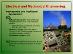 electrical and mechanical engineering