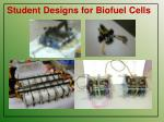 student designs for biofuel cells