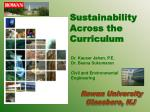 sustainability across the curriculum
