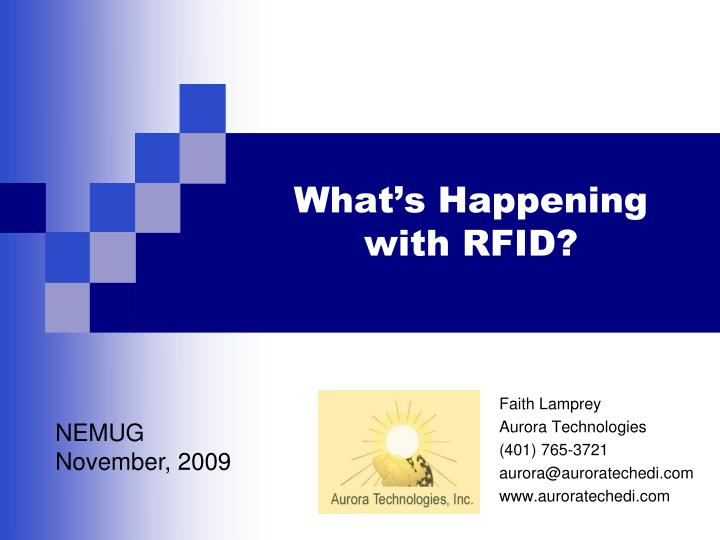 what s happening with rfid n.