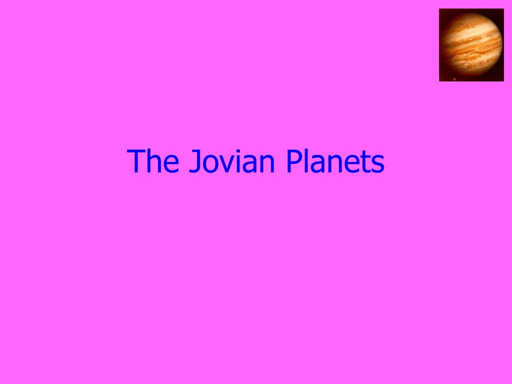 the jovian planets l.