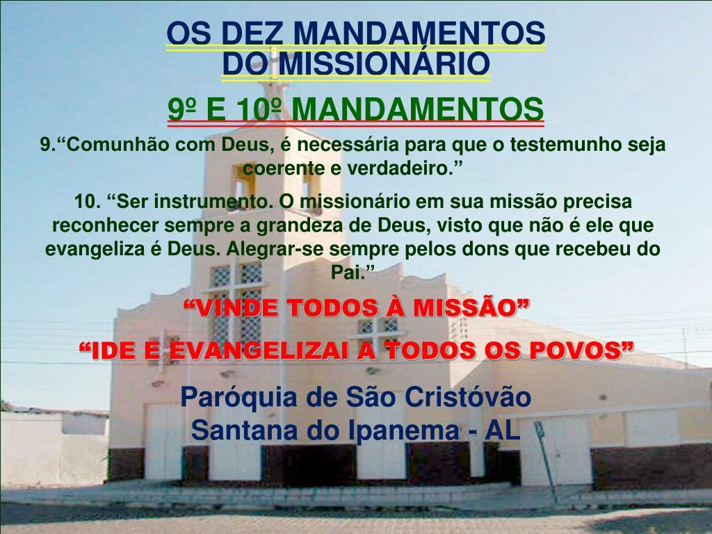 os dez mandamentos do mission rio l.