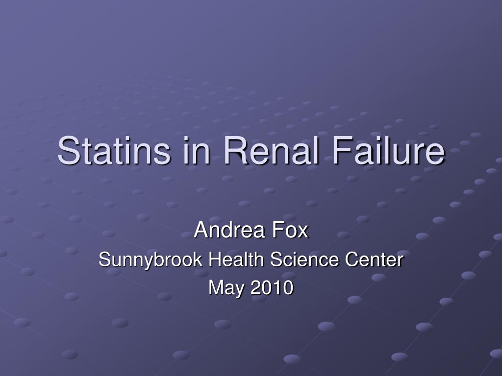 statins in renal failure l.