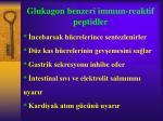 glukagon benzeri immun reaktif peptidler