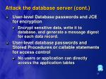 attack the database server cont87
