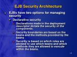 ejb security architecture