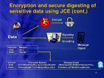 encryption and secure digesting of sensitive data using jce cont