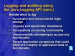 logging and auditing using the java logging api cont