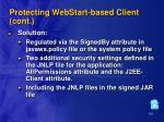 protecting webstart based client cont