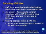 securing jar files