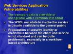 web services application vulnerabilities