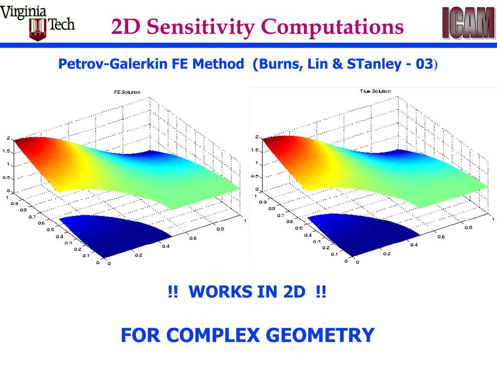 2D Sensitivity Computations