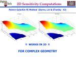 2d sensitivity computations39