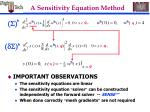 a sensitivity equation method8