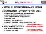 why sensitivities