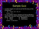 sample quiz8