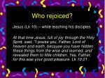 who rejoiced16