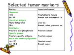 selected tumor markers