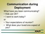 communication during deployment