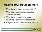 making your reunion work