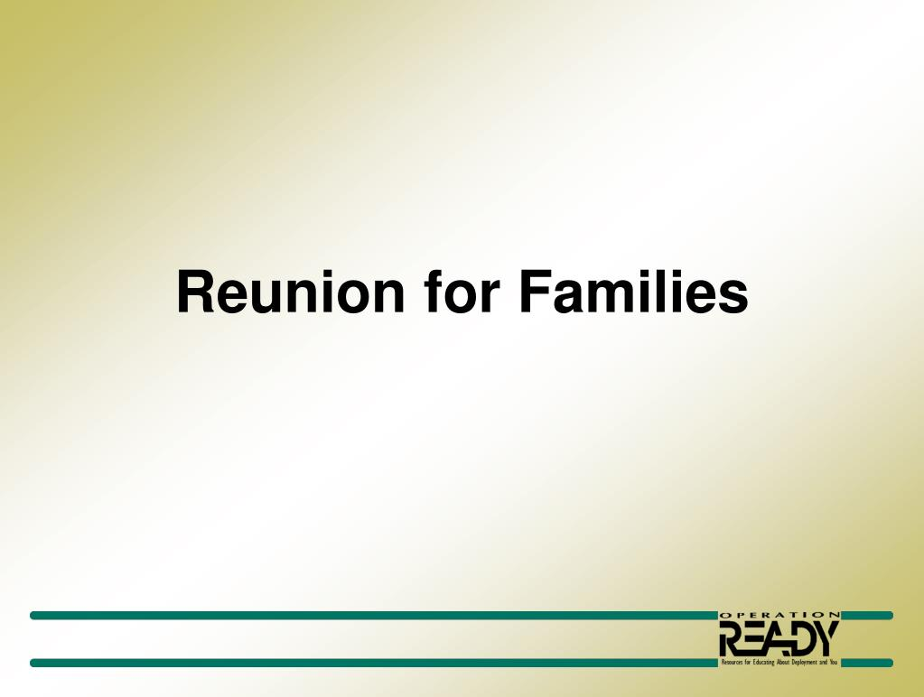 reunion for families l.