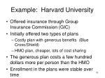 example harvard university