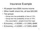 insurance example