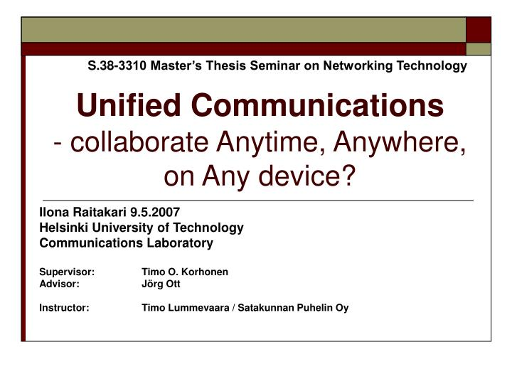 unified communications collaborate anytime anywhere on any device n.
