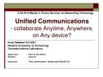 unified communications collaborate anytime anywhere on any device