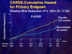 cards cumulative hazard for primary endpoint