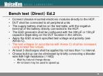 bench test direct ed 2
