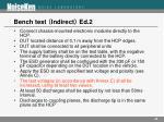 bench test indirect ed 2