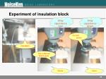 experiment of insulation block