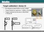 target calibration annex a